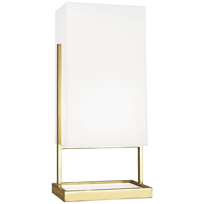 Robert Abbey Nikole Brass and White Acrylic Table Lamp