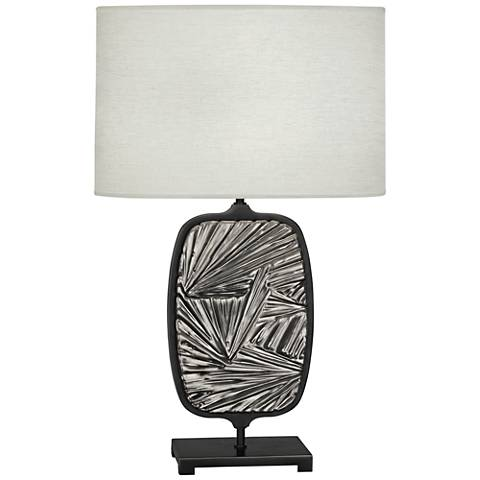 Michael Berman Flynn Antique Silver and Bronze Table Lamp