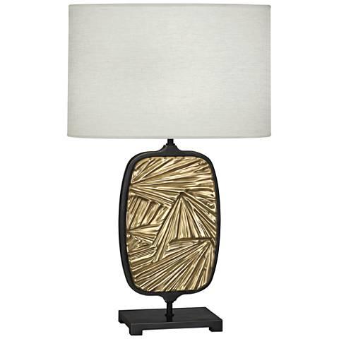 Michael Berman Flynn Bronze and Brass Ceramic Table Lamp