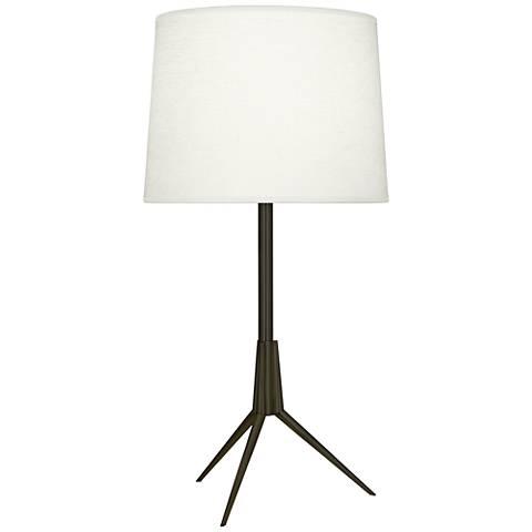 Robert Abbey Martin Deep Patina Bronze Metal Table Lamp