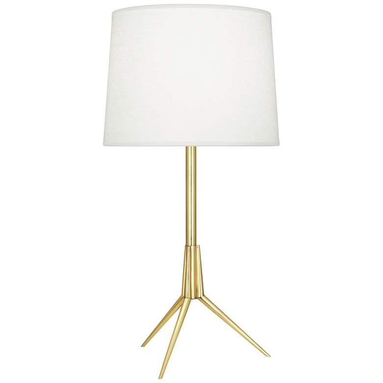 Robert Abbey Martin Modern Brass Metal Table Lamp