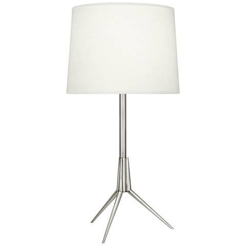 Robert Abbey Martin Polished Nickel Metal Table Lamp