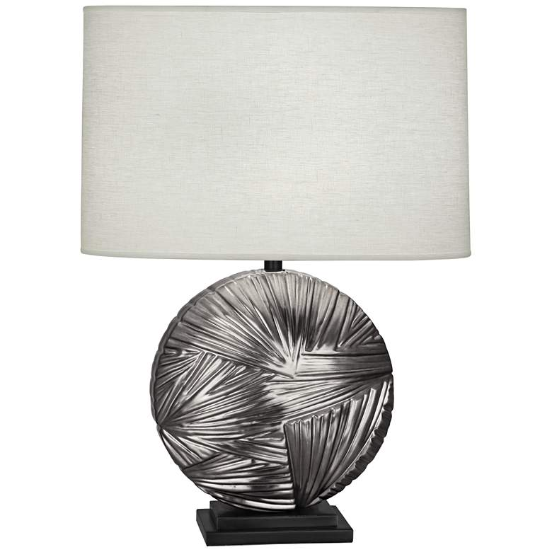 Michael Berman Frank Antique Silver with Bronze Table Lamp