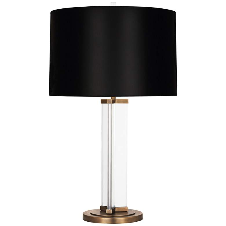 Fineas Aged Brass Glass Table Lamp with Black