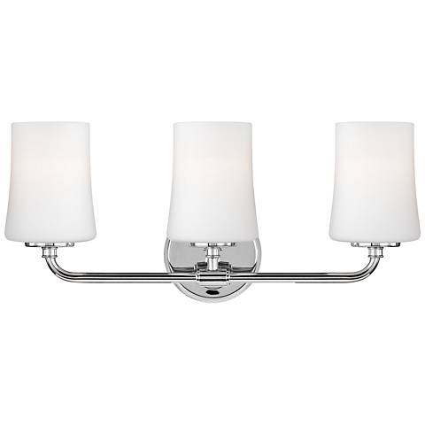 "Feiss Jennie 21 1/4"" Wide 3-Light Chrome Bath Light"