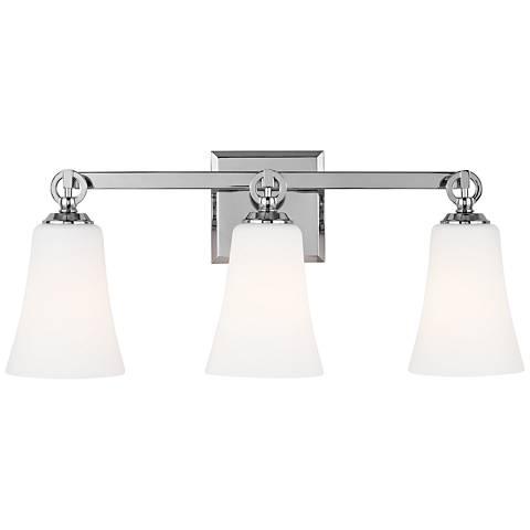 "Feiss Monterro 21 3/4"" Wide 3-Light Opal Chrome Bath Light"