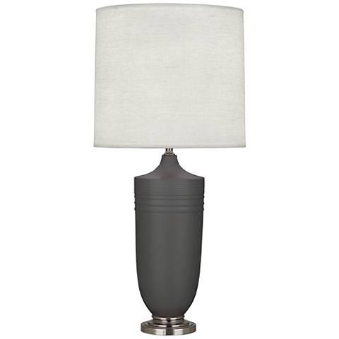 Michael Berman Hadrian Nickel and Ash Ceramic Table Lamp