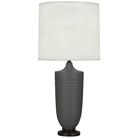Michael Berman Hadrian Bronze and Ash Ceramic Table Lamp