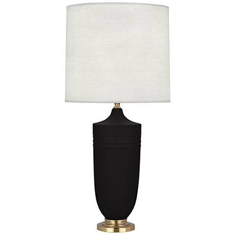 Michael Berman Hadrian Brass and Coal Ceramic Table Lamp