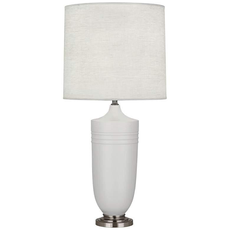 Michael Berman Hadrian Nickel and Gray Ceramic Table Lamp