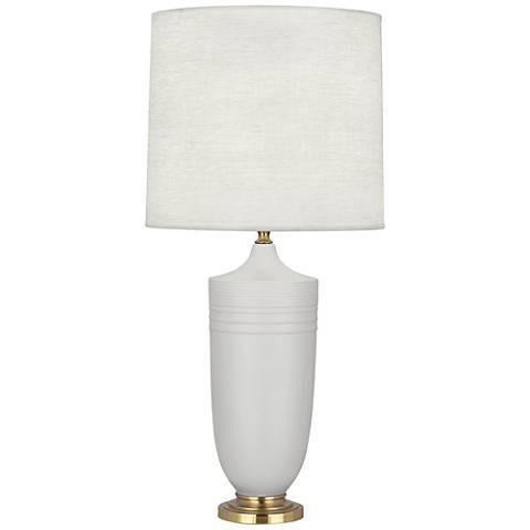 Michael Berman Hadrian Brass and Gray Ceramic Table Lamp