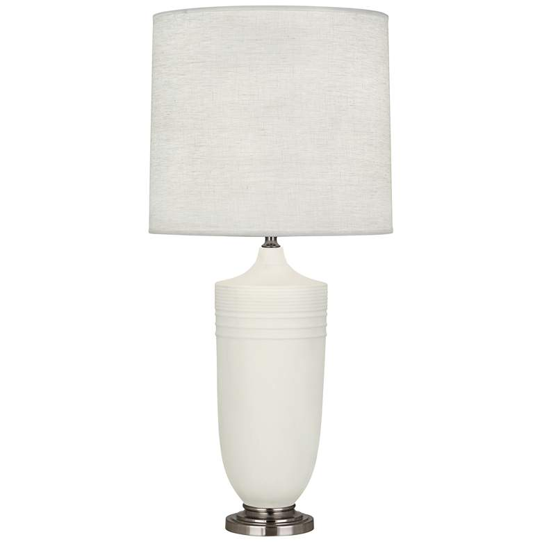 Michael Berman Hadrian Nickel and Lily Ceramic Table Lamp