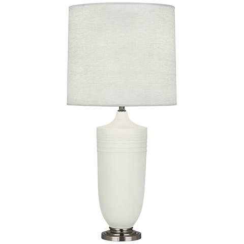 Michael Berman Hadrian Nickel and Lily Ceramic Table Lamp