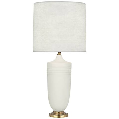Michael Berman Hadrian Brass and Lily Ceramic Table Lamp
