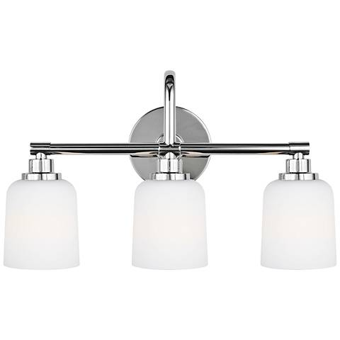 """Feiss Reiser 20 3/4"""" Wide 3-Light Chrome Bath Light"""
