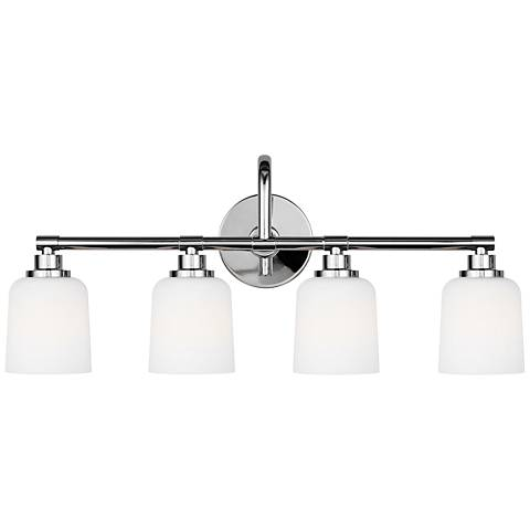 """Feiss Reiser 28 3/4"""" Wide 4-Light Chrome Bath Light"""