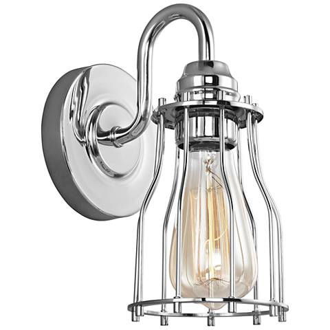 "Feiss Calgary 9 1/4"" High Chrome Wall Sconce"