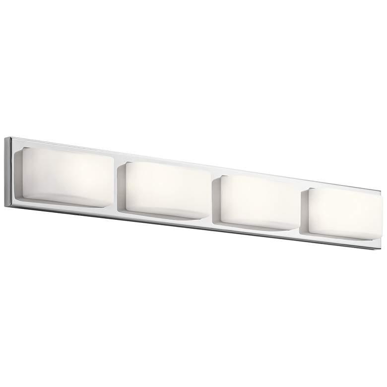 """Elan Kelsi 36"""" Wide Brushed Nickel 4-LED Bath Light"""