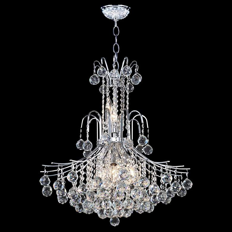 "James Moder Cascade 25"" Wide Silver Chandelier"