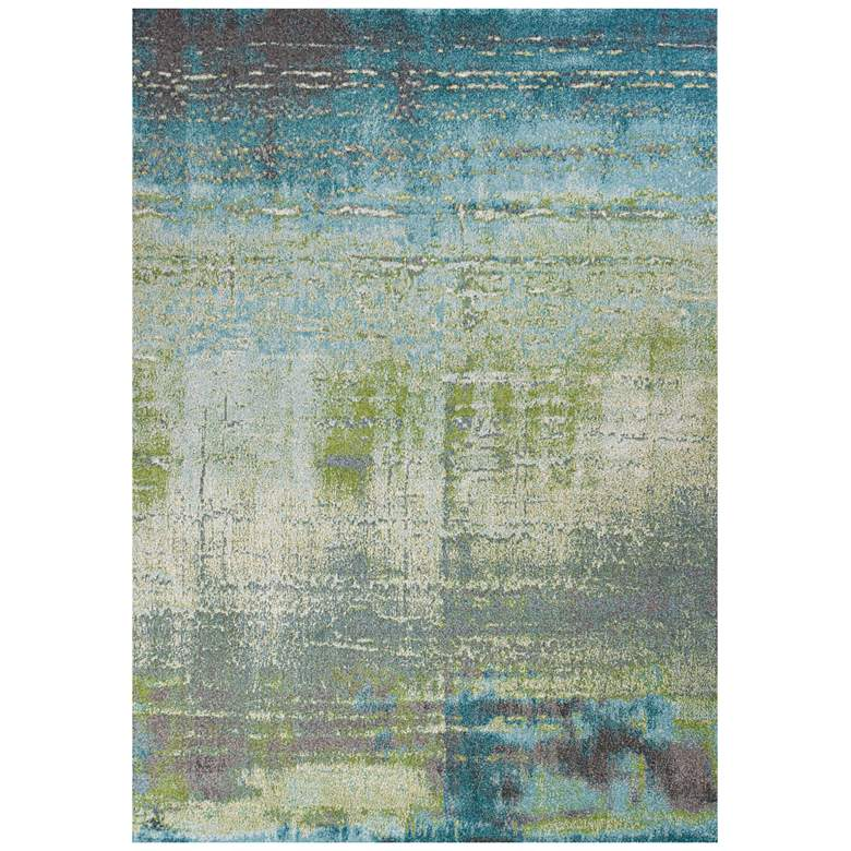 "Kas Illusions 6206 5'3""x7'7"" Blue and Green Area Rug"