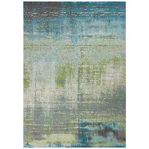 Kas Illusions 6206 Blue and Green Area Rug