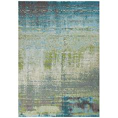 """Kas Illusions 6206 5'3""""x7'7"""" Blue and Green Area Rug"""