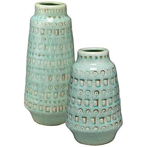 Jamie Young Coco Ocean 2-Piece Ceramic Vessel Set