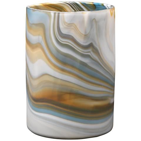 "Jamie Young Terrene Gray Swirl 11"" High Glass Vase"