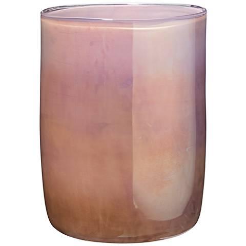"Jamie Young Vapor Metallic Lavender 11"" High Glass Vase"