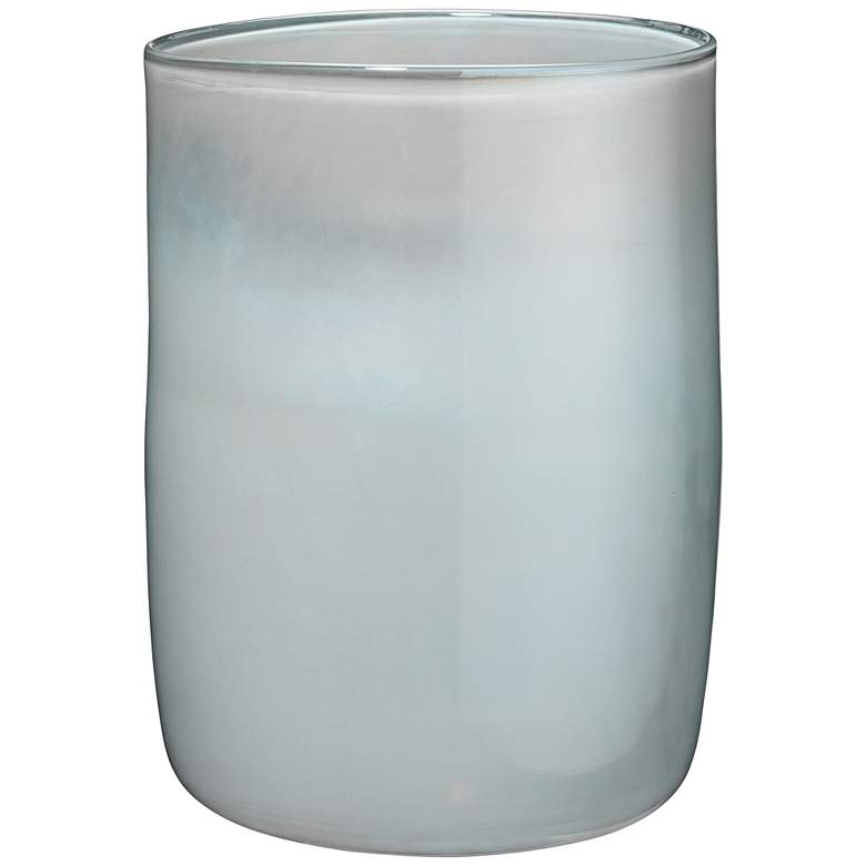 "Jamie Young Vapor Metallic Opal 11"" High Glass Vase"