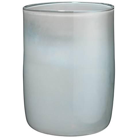 "Jamie Young Vapor Metallic Opal 11"" High Glass Vase"