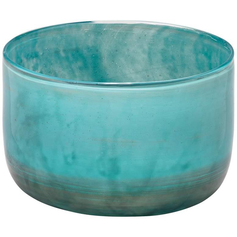 "Jamie Young Vapor Metallic Aqua 7"" Wide Glass"