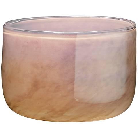 "Jamie Young Vapor Metallic Lavender 7"" Wide Glass Vase"