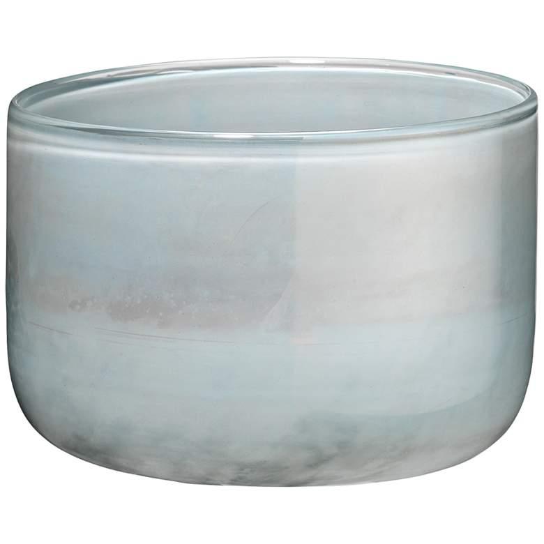 """Jamie Young 7"""" Wide Vapor Metallic Opal Glass Vase"""