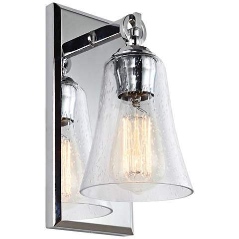 "Feiss Monterro 10 1/2"" High Chrome Wall Sconce"