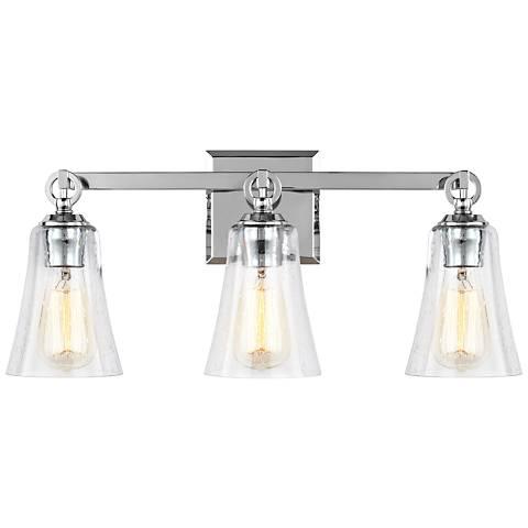 """Feiss Monterro 21 3/4"""" Wide 3-Light Chrome Bath Light"""