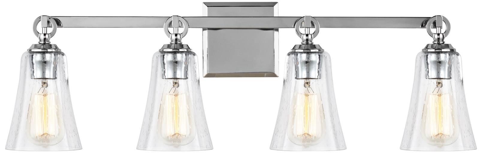 Feiss monterro 30 1 4 wide 4 light chrome bath light