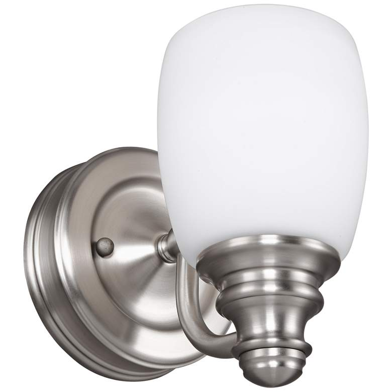 "Feiss Bentley 6 1/2"" High Satin Nickel Wall"