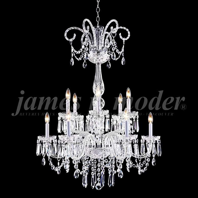 "James Moder Venetian 32"" Wide Silver 12-Light Chandelier"