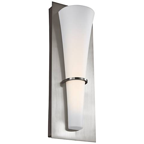 """Feiss Barrington 15 1/4"""" High Brushed Steel LED Wall Sconce"""