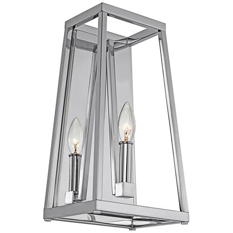 "Feiss Conant 15"" High Chrome Wall Sconce"
