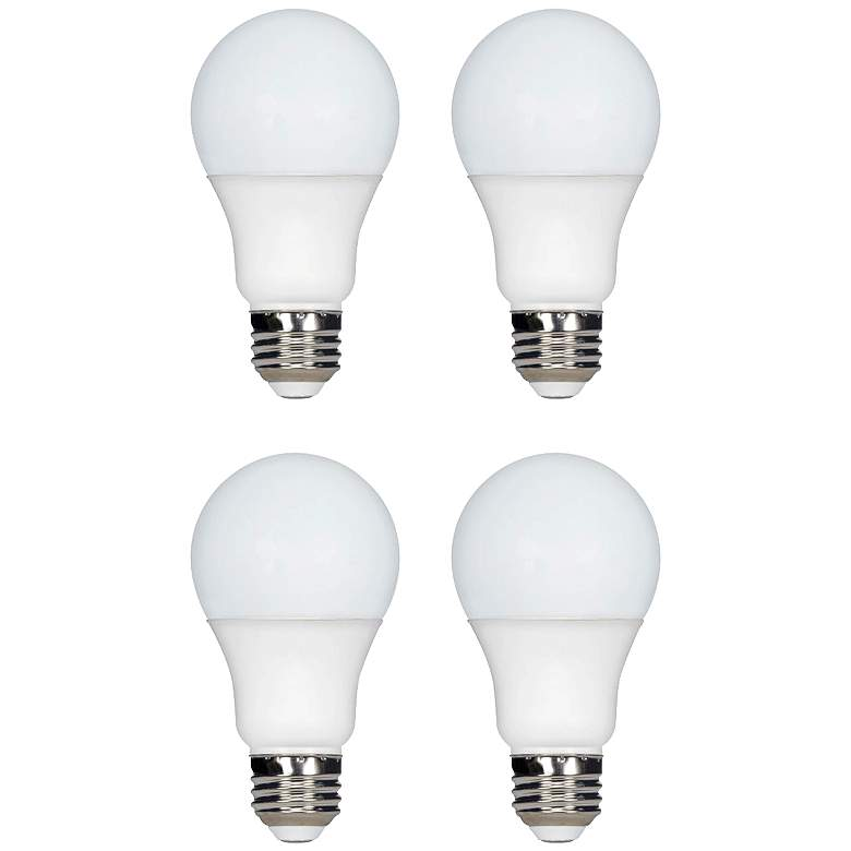 60 Watt Equivalent Tesler Frosted 7W LED Dimmable 4-Pack