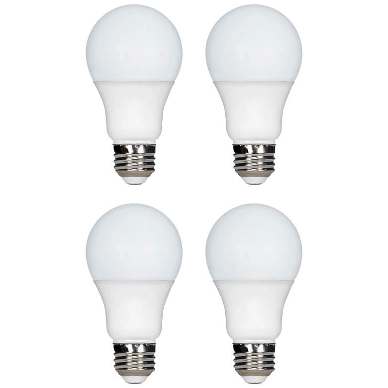 75 Watt Equivalent Tesler Frosted 9W LED Dimmable 4-Pack