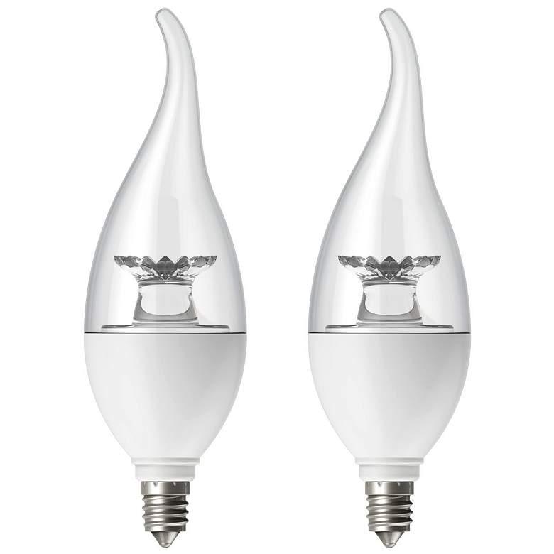60W Equivalent Tesler Clear 6W LED Candelabra Flame