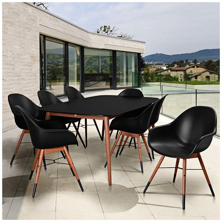 Los Altos Deluxe Black Shell 9-Piece Patio Dining Set