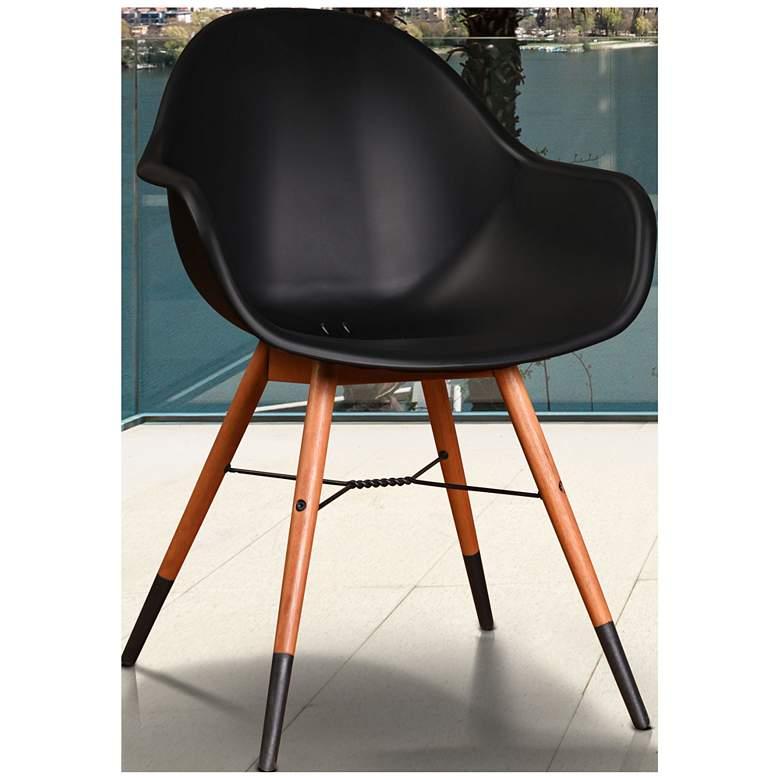 Los Altos Deluxe Black Shell 4-Piece Patio Armchair