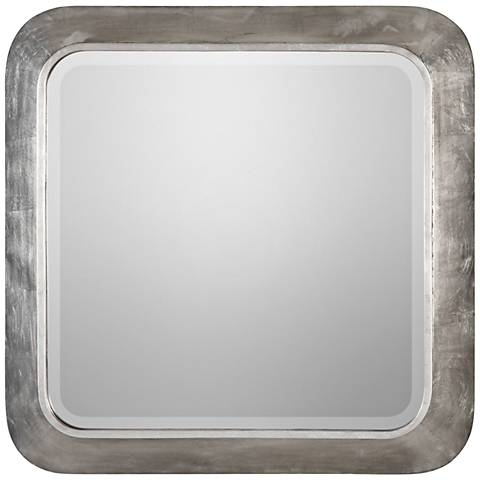 "Uttermost Verea Silver Leaf 30 1/2"" Square Wall Mirror"
