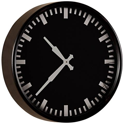 "Cooper Classics Ryder Black 19 1/2"" Round Wall Clock"