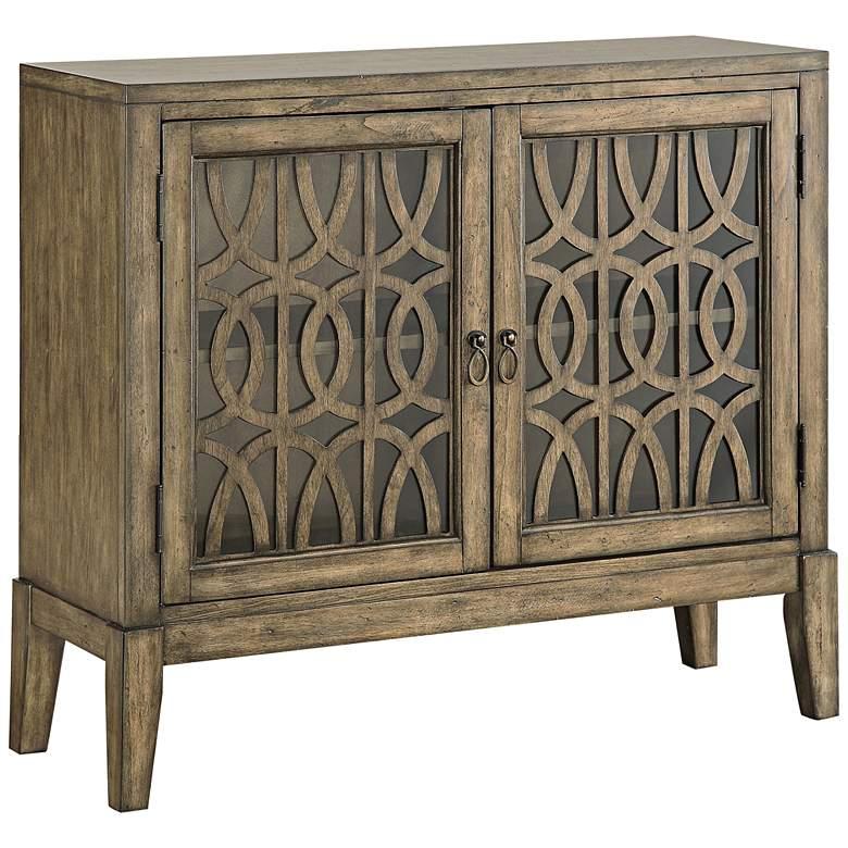 """Pendleton Kire 40 1/2"""" Wide Glass Door Accent Cabinet"""