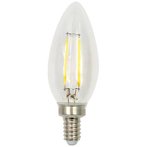 Clear Torpedo 2 Watt E12 Base Filament Dimmable LED Bulb
